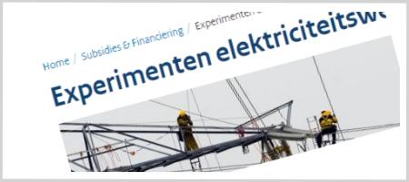 Experimentenregeling elektriciteitswet