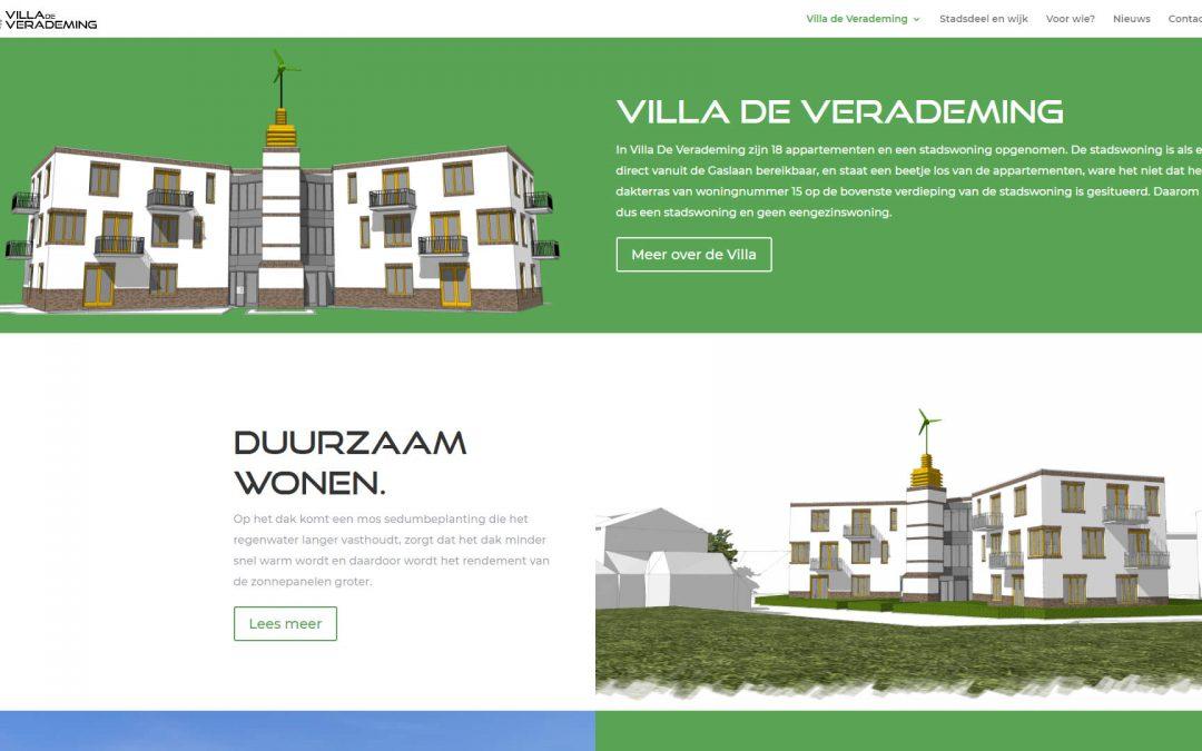 Website Villadeverademing.nl in de lucht